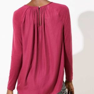 New WithTag- Ann Taylor Loft PleatBack Knit Top S